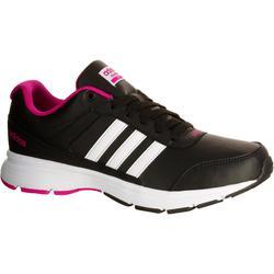 Damessneakers City zwart/roze