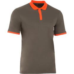 Sportshirt racketsporten Soft polo heren kaki/oranje