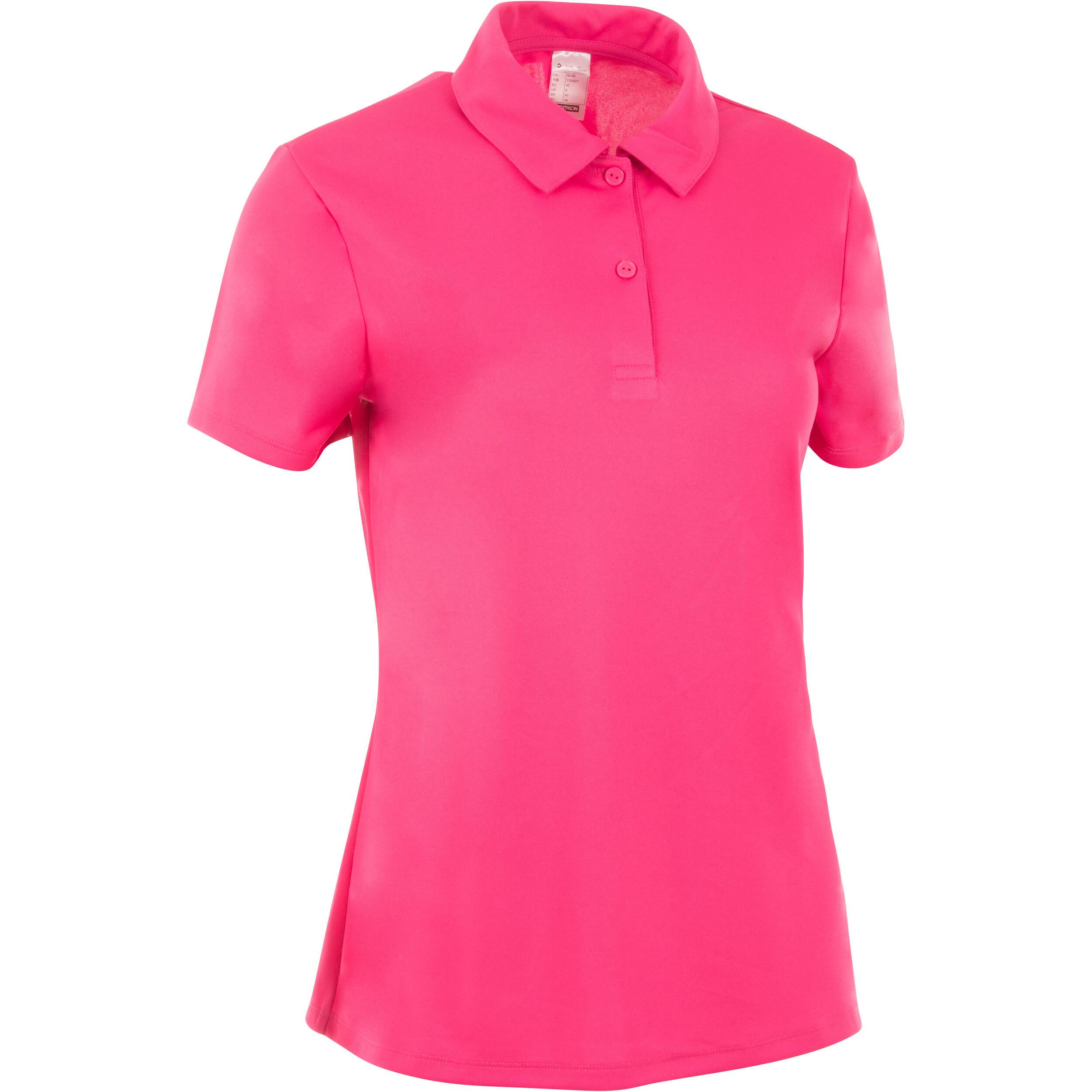 Poloshirt Essentiel 100 Tennis Damen rosa | Bekleidung > Shirts > Poloshirts | Rosa | Artengo