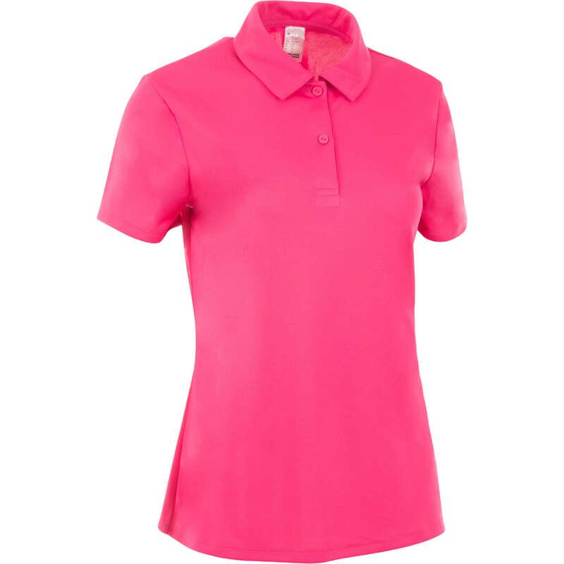 Îmbrăcăminte respirantă damă Sporturi cu racheta - Tricou Polo Essentiel 100 Damă ARTENGO - Imbracaminte padel