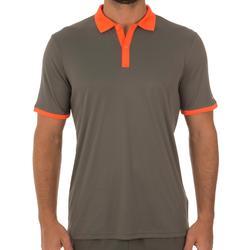 Herenpolo Soft kaki/oranje 500 tennis/badminton/tafeltennis/padel/squash