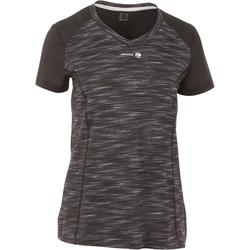 Tennis T-Shirt Soft 500 Damen grau / schwarz