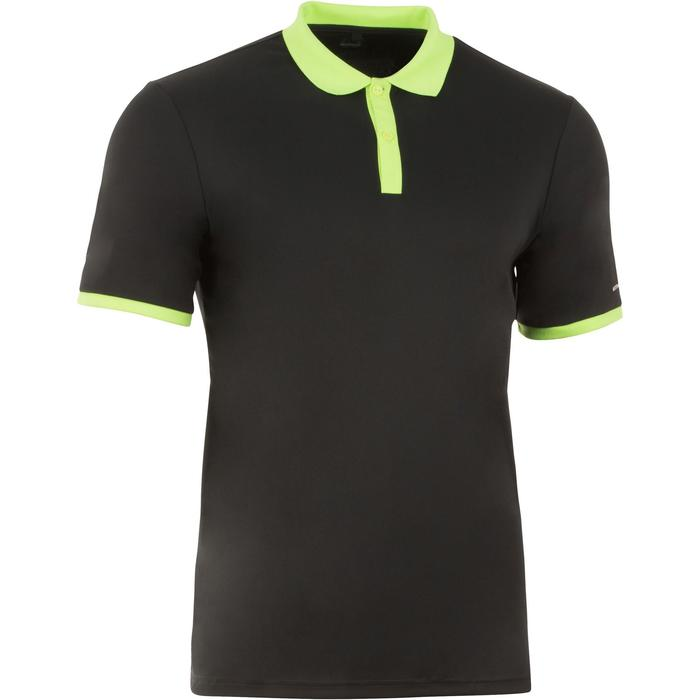 POLO HOMME SOFT NOIR 500 TENNIS BADMINTON TENNIS DE TABLE PADEL SQUASH ARTENGO