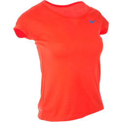Sportshirt racketsporten top meisjes rood