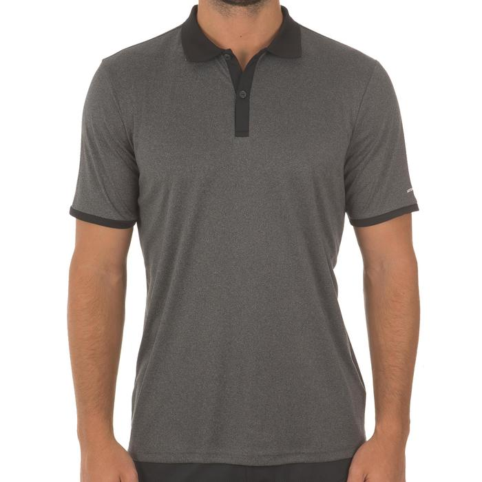 POLO HOMME SOFT GRIS CHINE 500 TENNIS BADMINTON TENNIS DE TABLE PADEL SQUASH