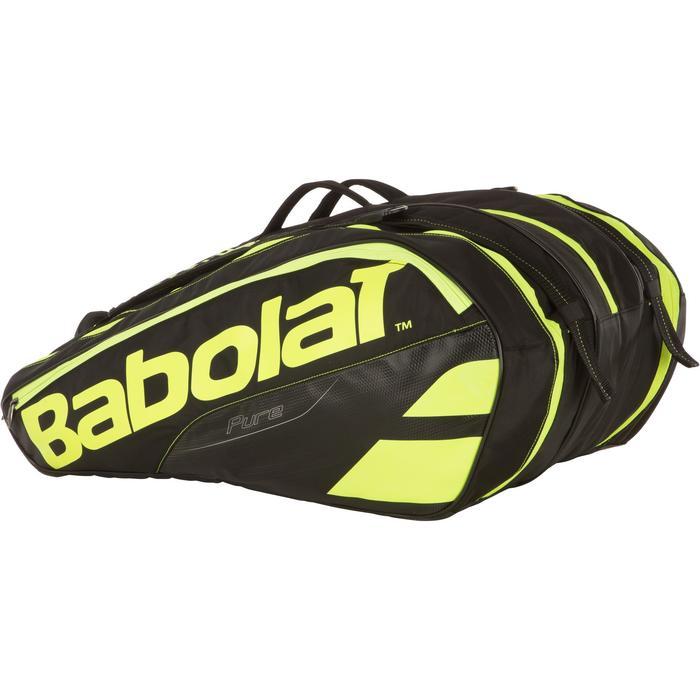 Tennistasche Pure Aero Schlägertasche x12 Schläger schwarz/gelb
