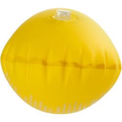 Bouée de flottaison de plongée avec tuba 100 jaune