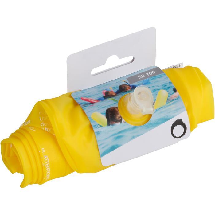 Boya de flotación de snorkel 100 amarillo