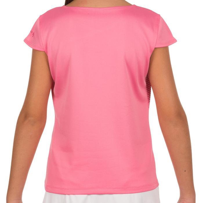 T-shirt Soft meisjes roze 500 tennis/badminton/tafeltennis/padel/squash