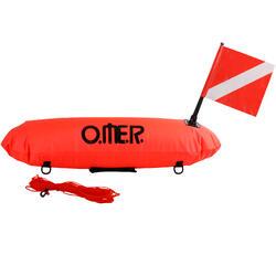 Opblaasbare lange signalisatieboei voor freediving Master Torpedo