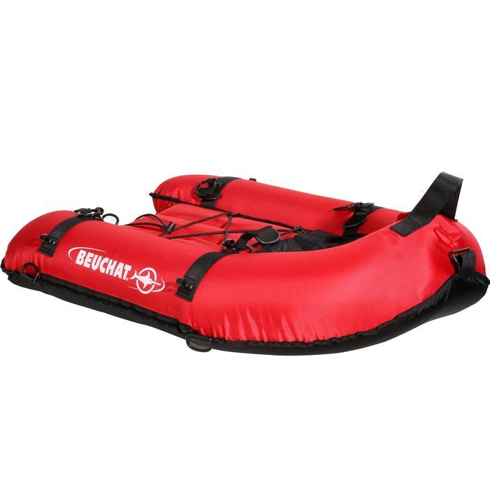 Schlauchboot Unterwasserjagd