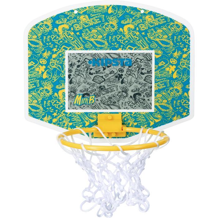 Mini panneau de basket enfant/adulte Set Mini B New York bleu. Ballon inclus. - 1089207