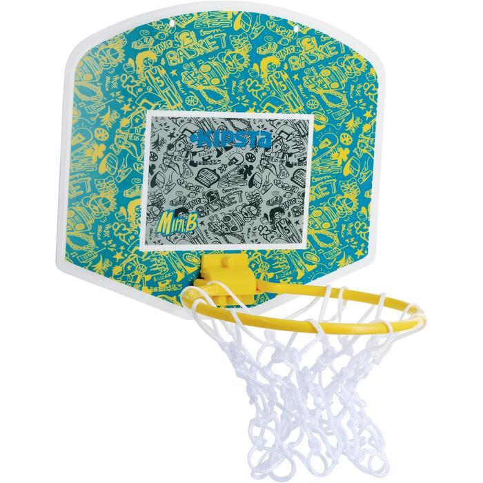 Mini panneau de basket enfant/adulte Set Mini B New York bleu. Ballon inclus. - 1089208