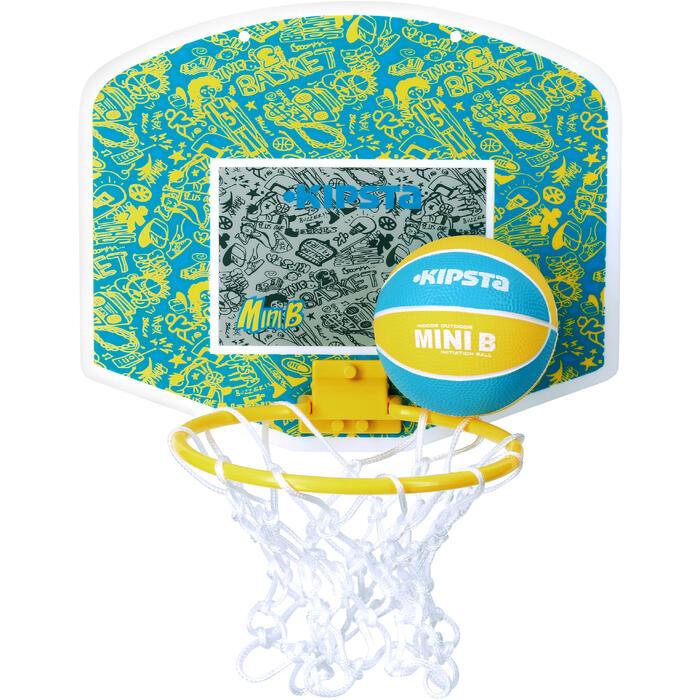Mini panneau de basket enfant/adulte Set Mini B New York bleu. Ballon inclus. - 1089209