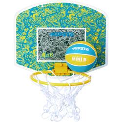 Mini panneau de basket enfant/adulte Set Mini B New York bleu. Ballon inclus.