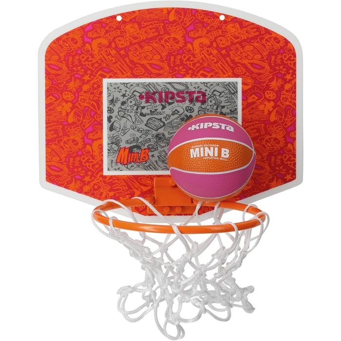 Mini panneau de basket enfant/adulte Set Mini B New York bleu. Ballon inclus. - 1089229