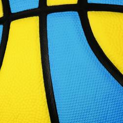 Wizzy Kids' Size 5 Basketball - Blue/Yellow. Lighter.