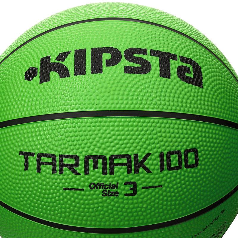Tarmak 100 Kids Size 3 Basketball - Green