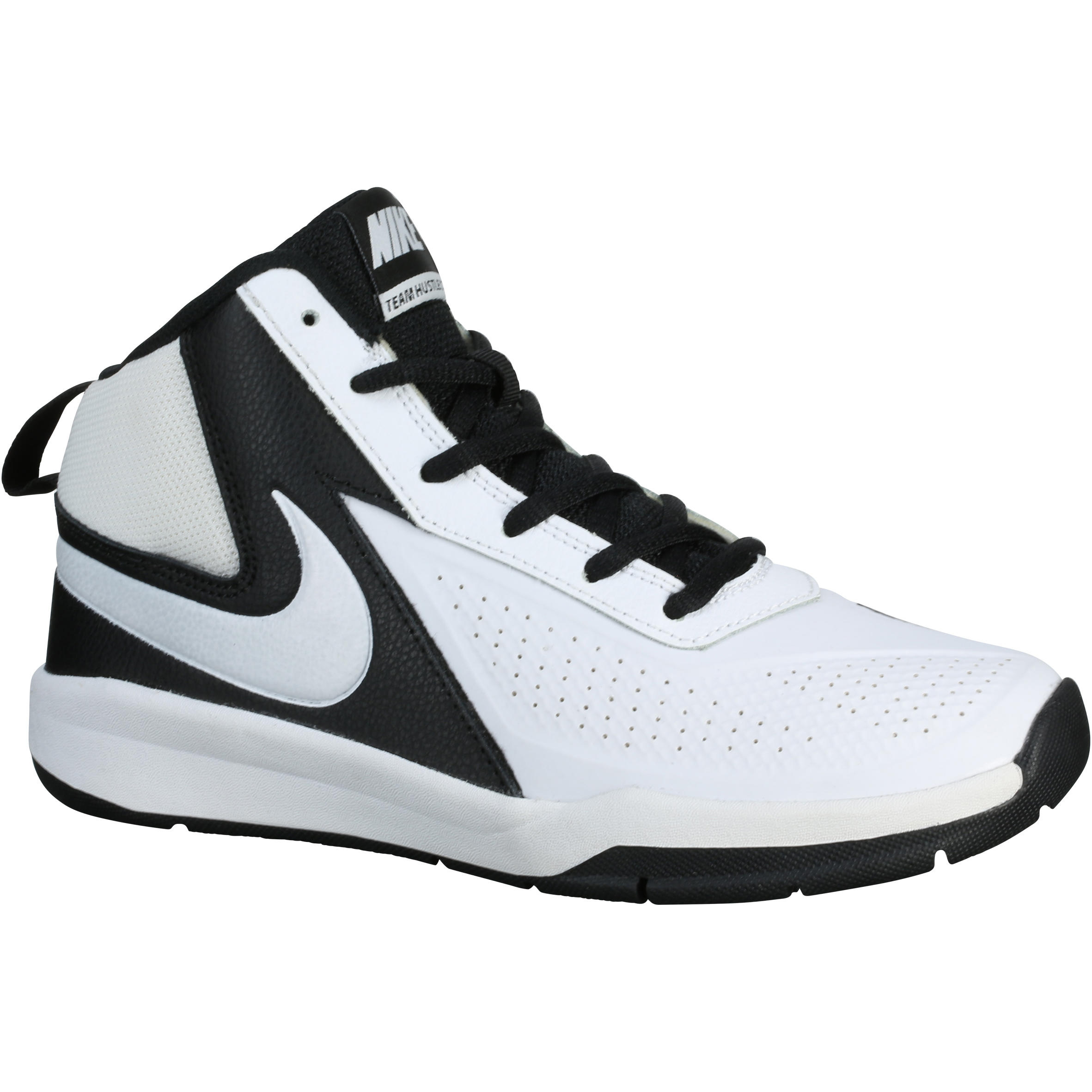 Nike Performance TEAM HUSTLE D 7 Basketbalschoenen white/black