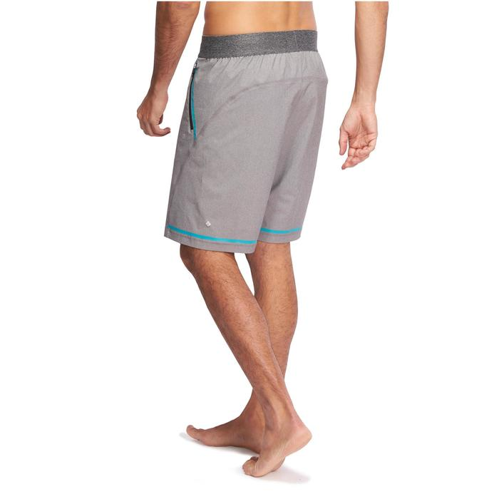 Yogashort in polyester voor heren gemêleerd grijs