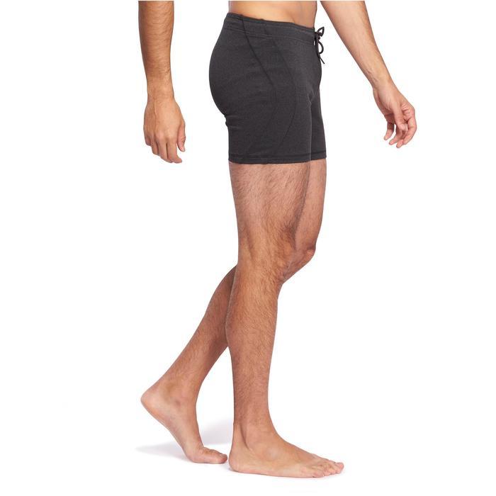 Short Hot Yoga homme gris foncé - 1089699