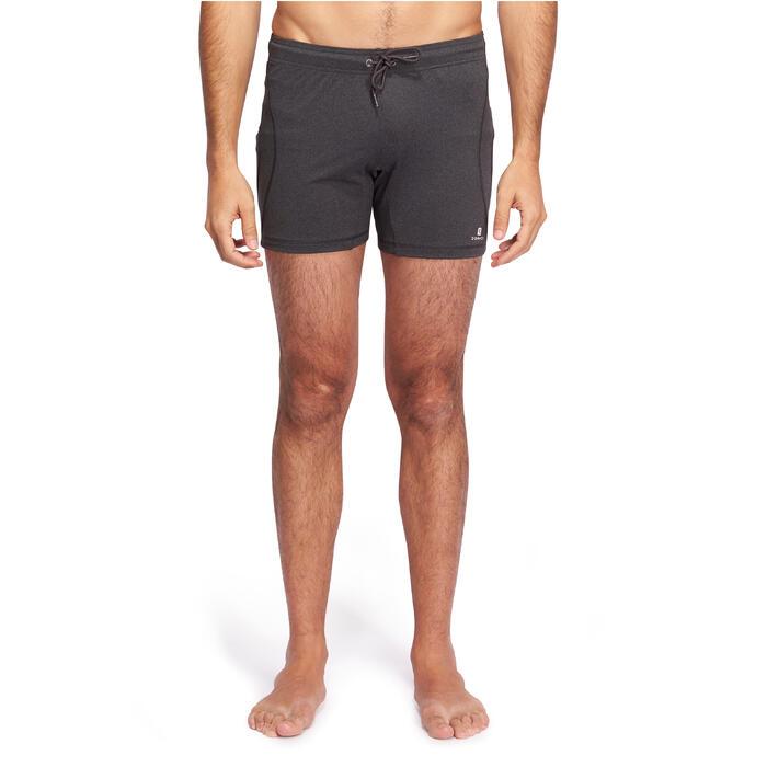 Short Hot Yoga homme gris foncé - 1089769