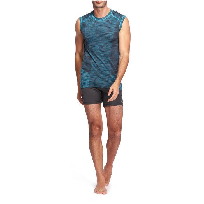 Short Hot Yoga homme gris foncé - 1089774