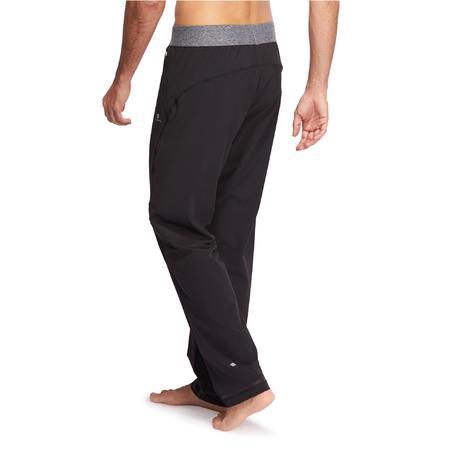 pantalon toile yoga homme noir domyos by decathlon. Black Bedroom Furniture Sets. Home Design Ideas