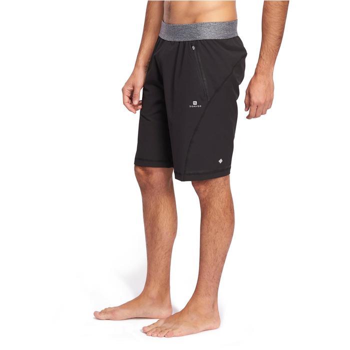 Yogashort in polyester voor heren zwart
