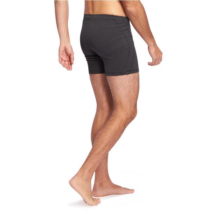 Sporthose kurz Hot Yoga Herren dunkelgrau