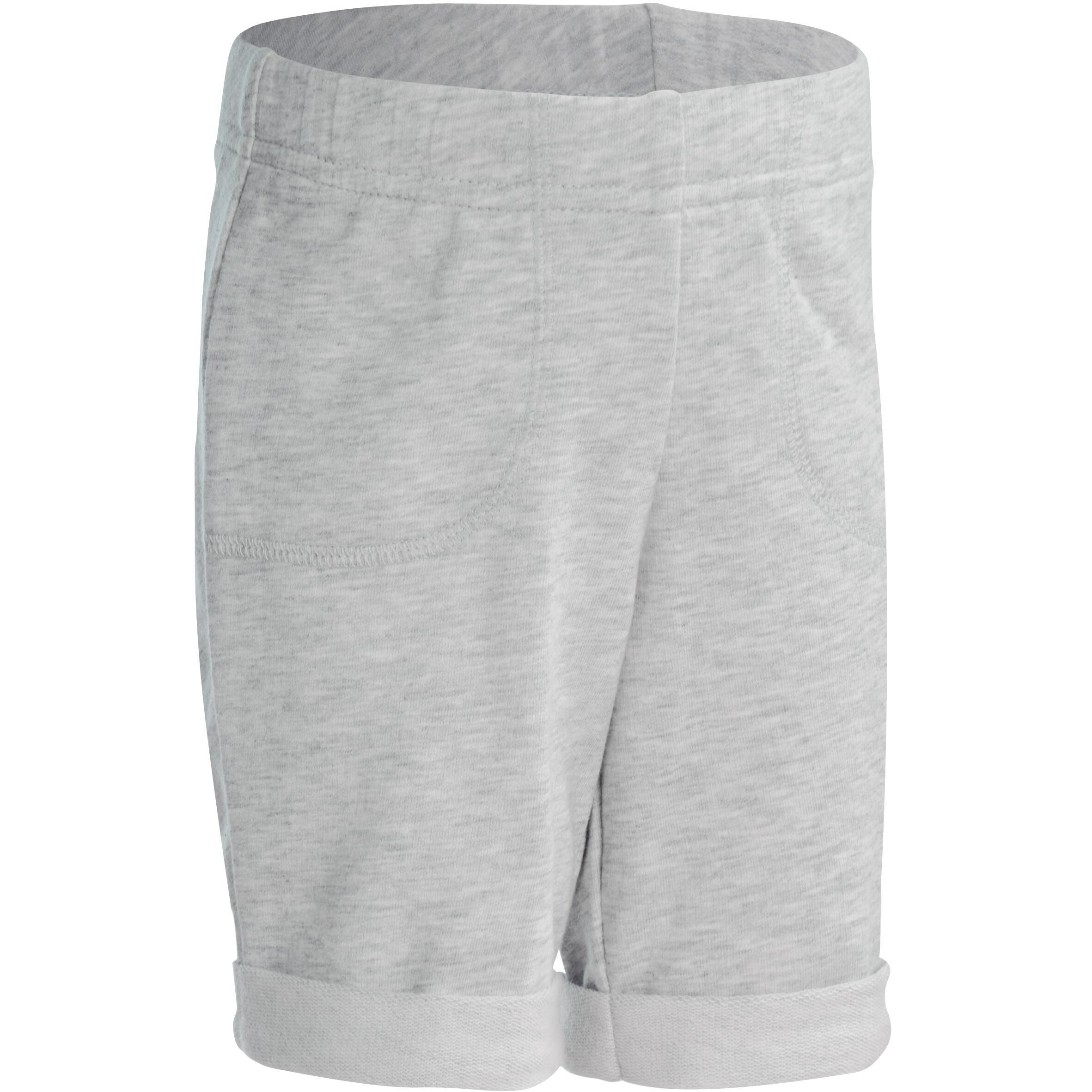 Gym short voor peuters grijs