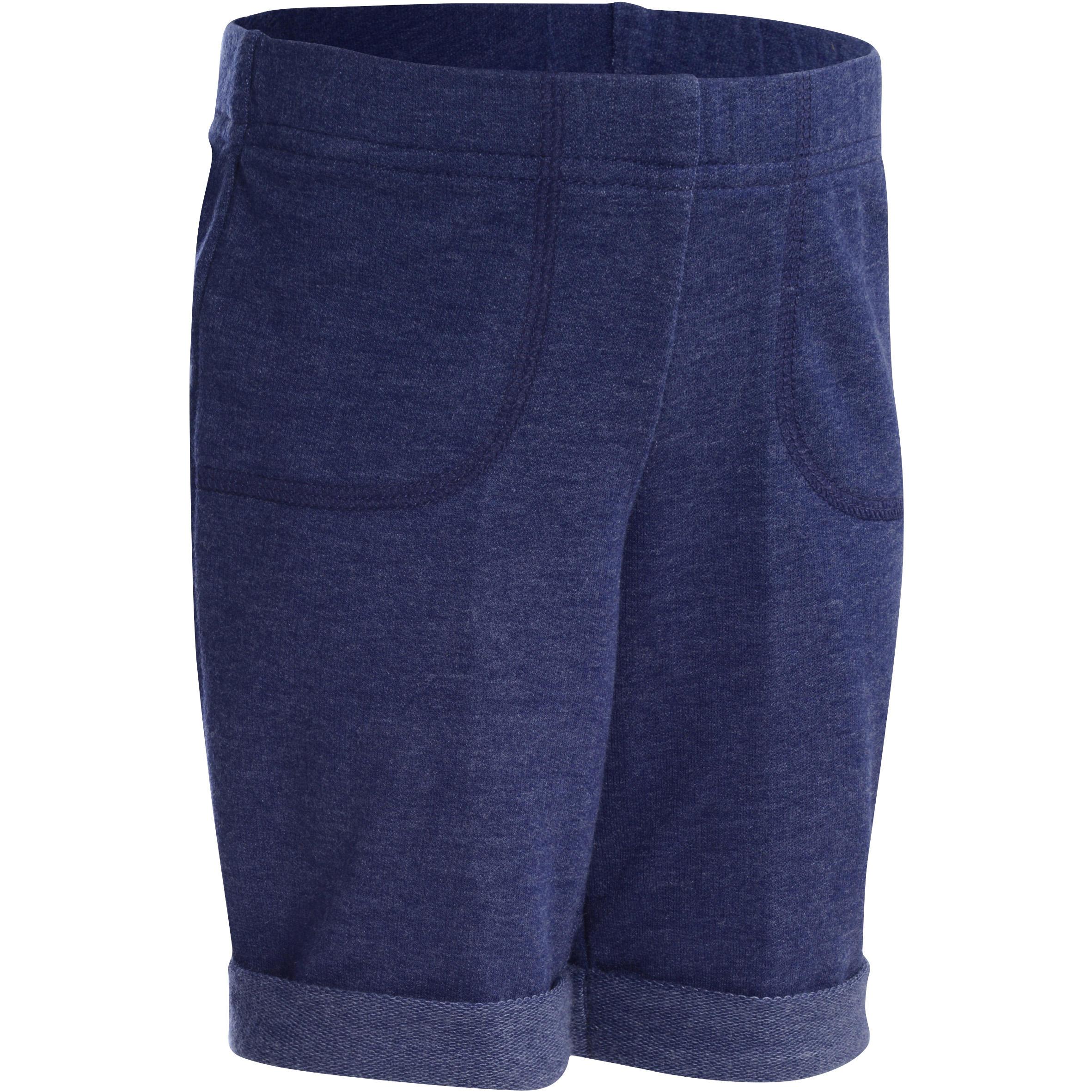 Gym short voor peuters marineblauw