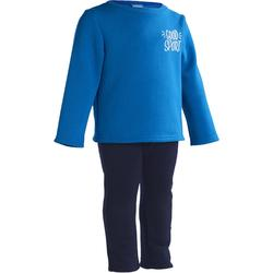 Trainingsanzug Warm'Y 100 Babyturnen blau