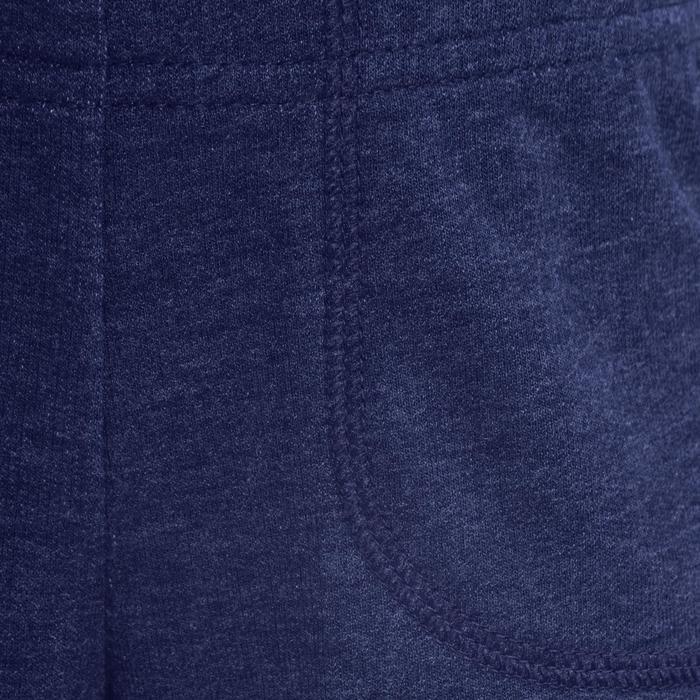 Sporthose kurz 100 Babyturnen Kinder blau
