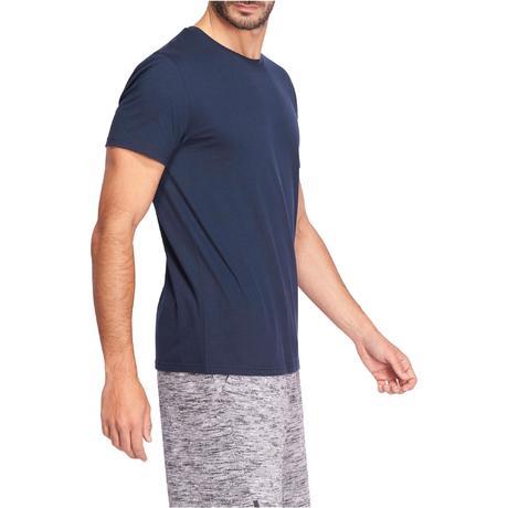 T-Shirt Sportee 100 regular Gym Stretching 100% coton homme bleu marine.  Previous. Next d8f34befea4
