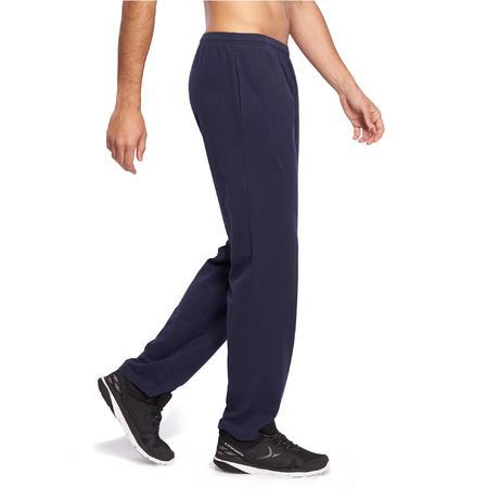 pantalon jersey regular gym pilates homme bleu marine. Black Bedroom Furniture Sets. Home Design Ideas