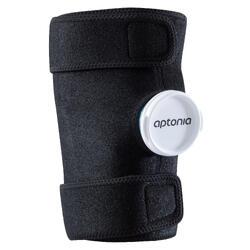 Soporte de compresión para bolsa de hielo o compresa de frío reutilizable.