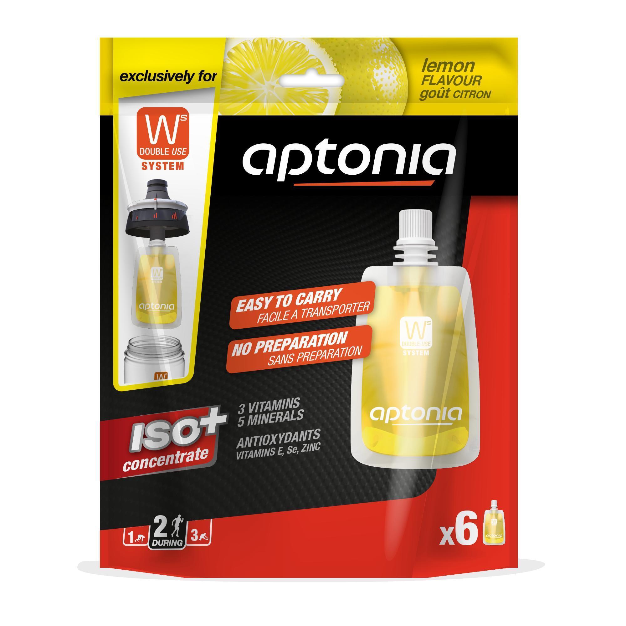 Aptonia Doseermaat isotone drank ISO+ concentraat citroen 6x 43 ml