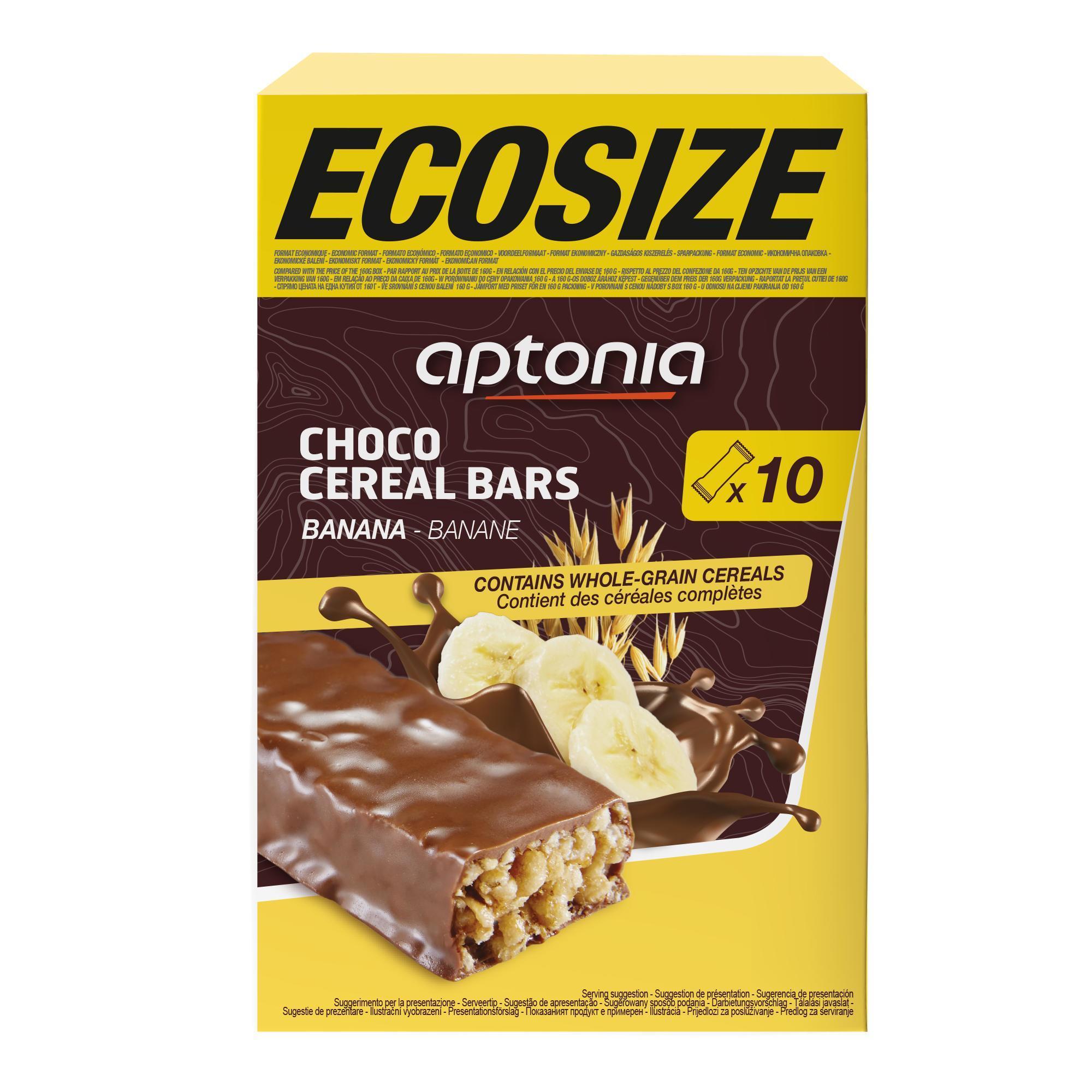 Aptonia Voordeelpak omhulde graanrepen chocolade en banaan 10x 32 g