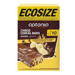 Barre de céréales enrobée ECOSIZE chocolat banane 10x32g