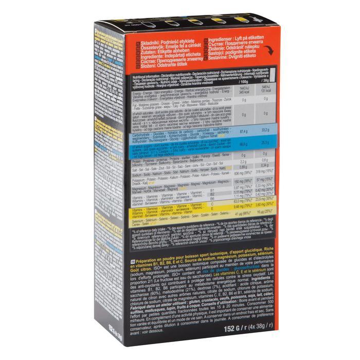 Boisson isotonique poudre ISO+ Citron 4x38g - 1090344
