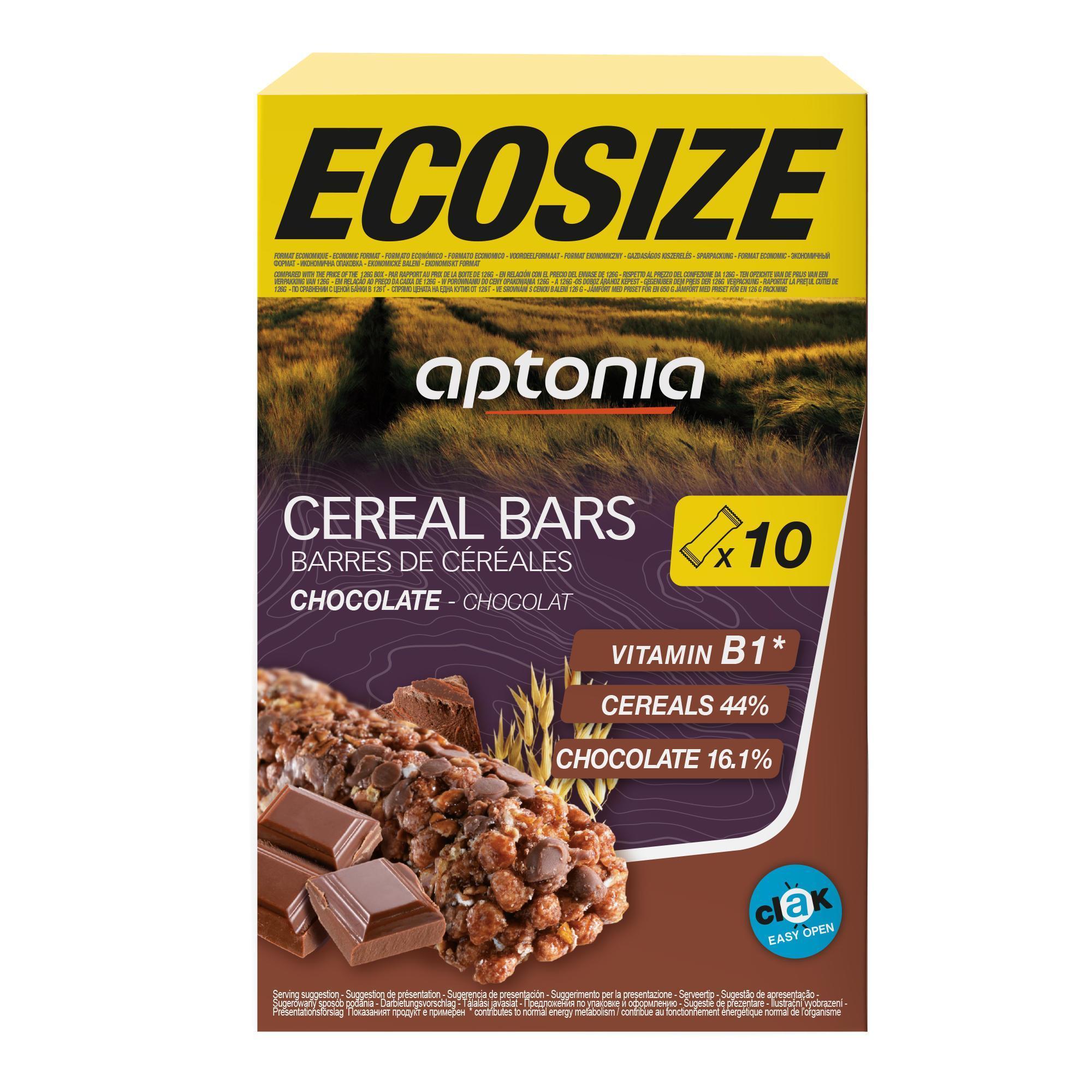 Aptonia Voordeelpak graanrepen Clak chocolade 10x 21 g