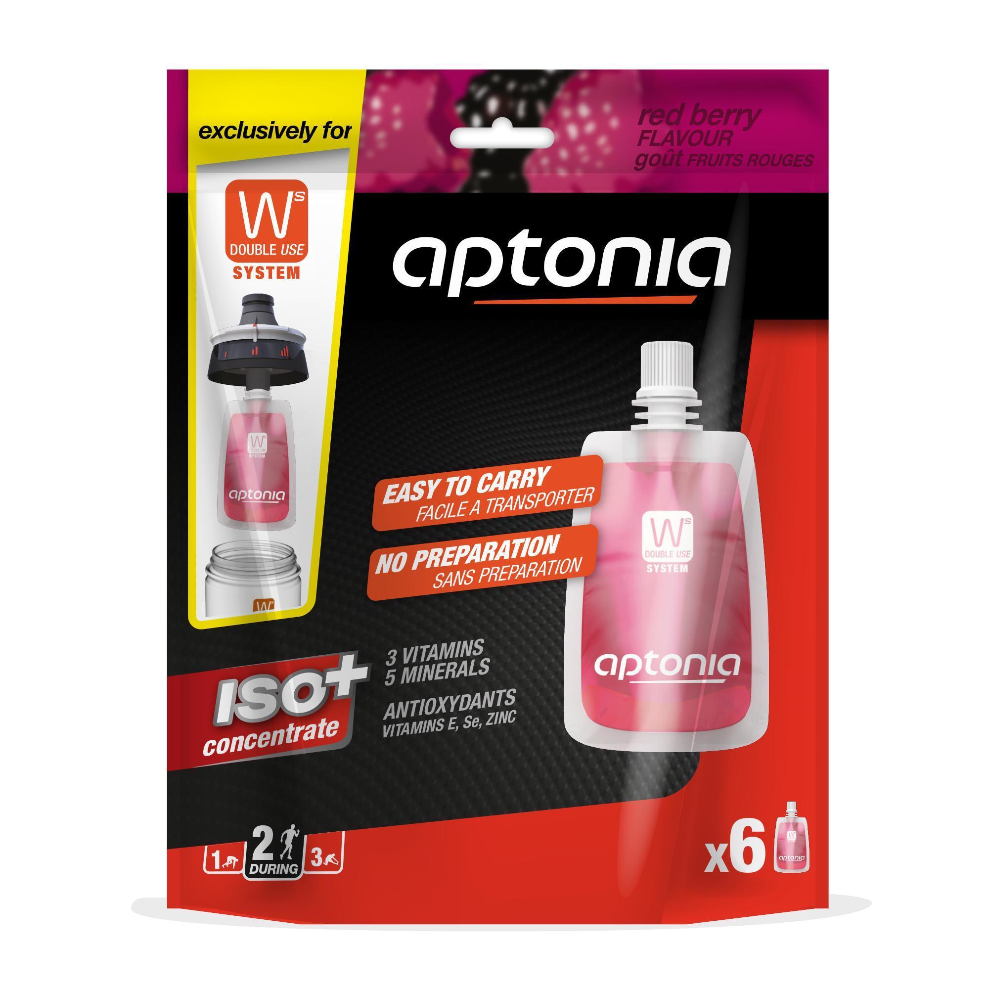 Aptonia Isotone sportdrank zakjes Iso+ rode vruchten 6x 43ml