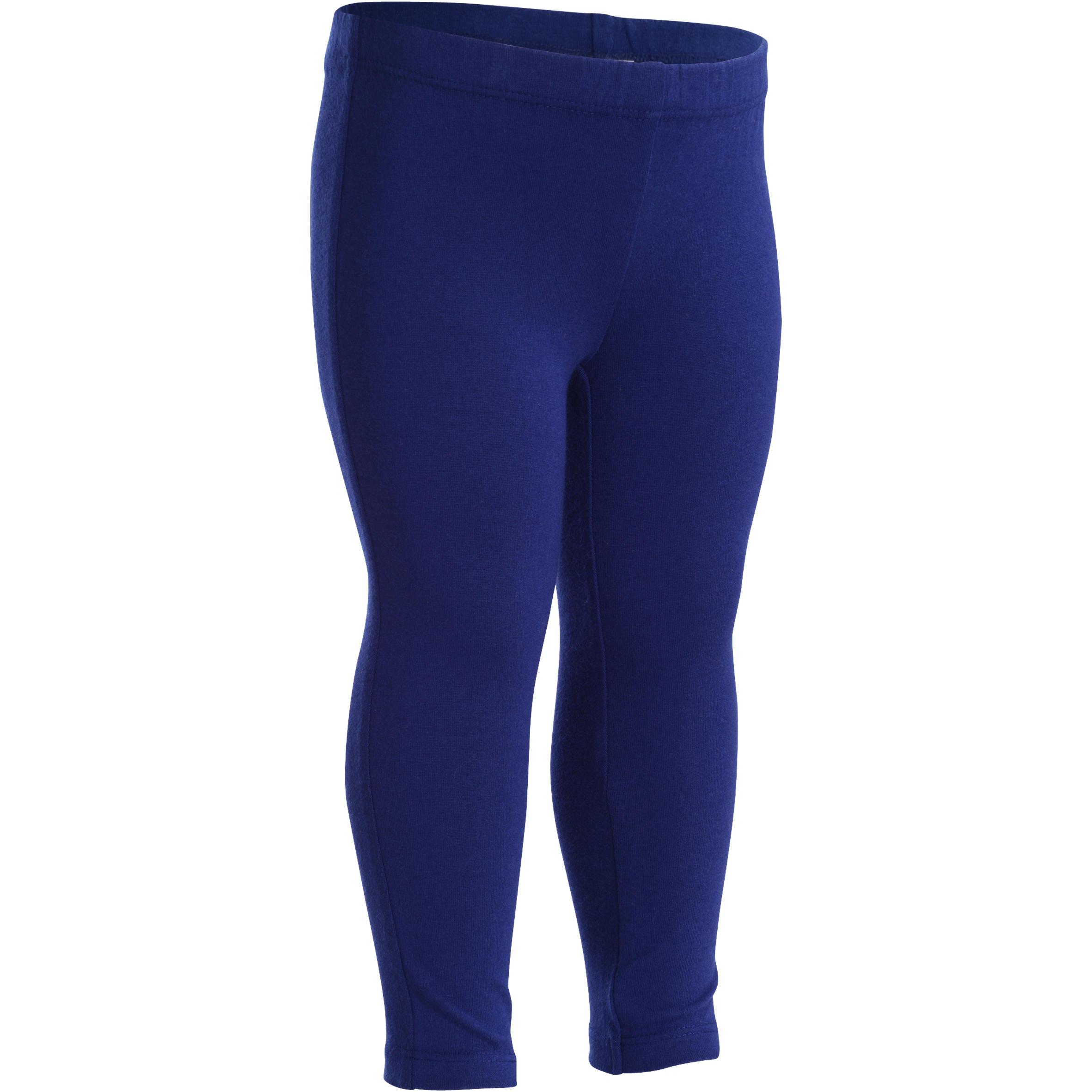 Set van 2 gym leggings voor peuters marineblauw