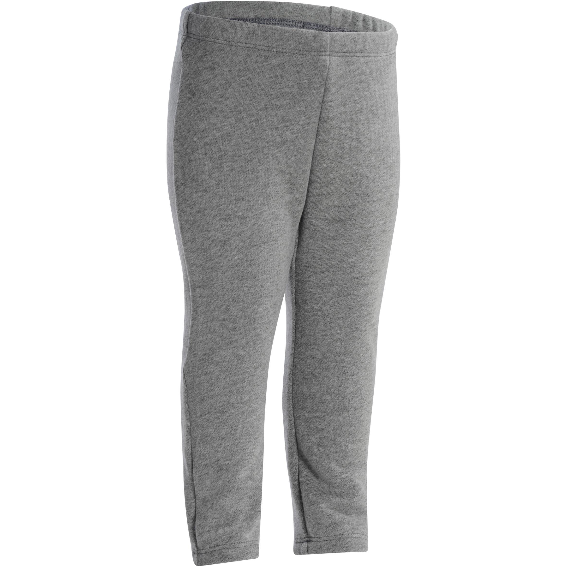 100 Warm'y Baby Gym Bottoms - Grey
