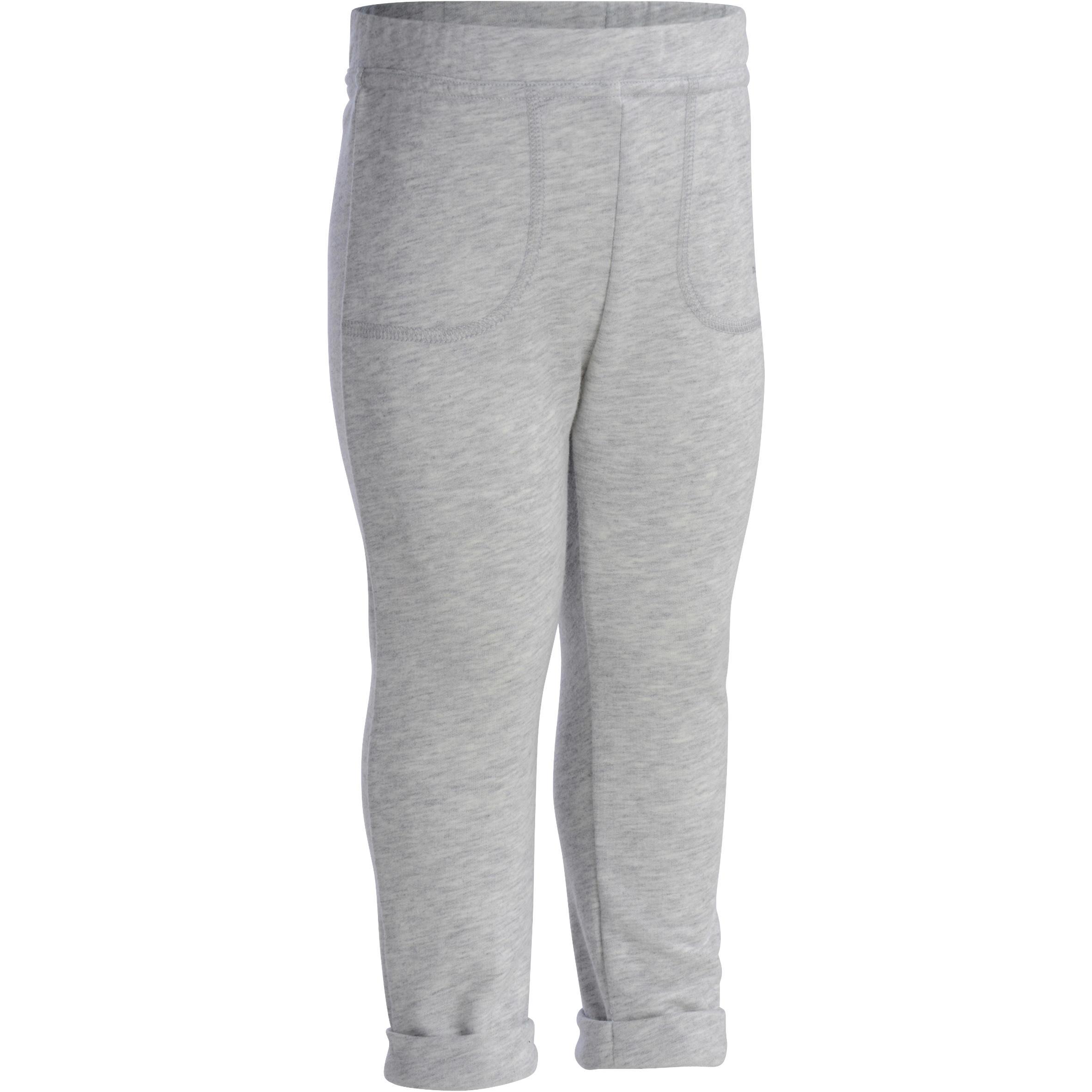 Gym broek voor peuters grijs