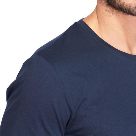 ROUPAS GYM PILATES. › Vestuário homem. › T-shirt Sportee 100 regular  Ginástica alongamentos 100% algodão homem az. mar. BIENTÔT ÉPUISÉ.  Previous. Next e4df03c566b