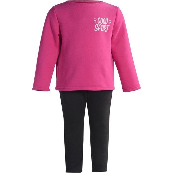 Joggingpak Warm'y 100 voor kleutergym roze