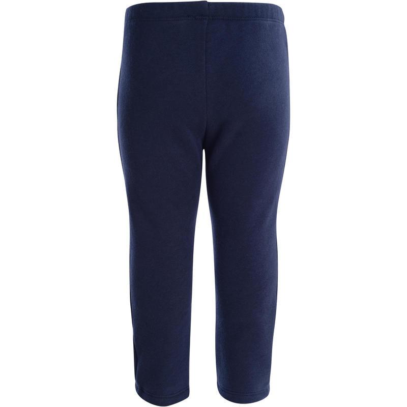 Pantalón 100 cálido gimnasia infantil azul marino Warm'y
