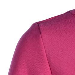 Joggingpak 100 voor kleutergym Warm'y roze met opdruk